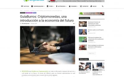 El portal económico Mundo Emprende publica una reseña sobre el GuíaBurros: Criptomonedas